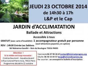 23 oct 2014 jardin acclimatation