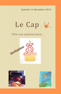 Programme anniversaire du Cap (recto)
